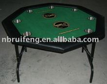 octagon poker table with cup holder