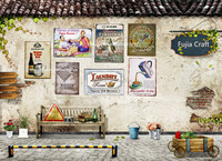 wholesale vintage metal craft for home decoration,retro wall metal tin signs