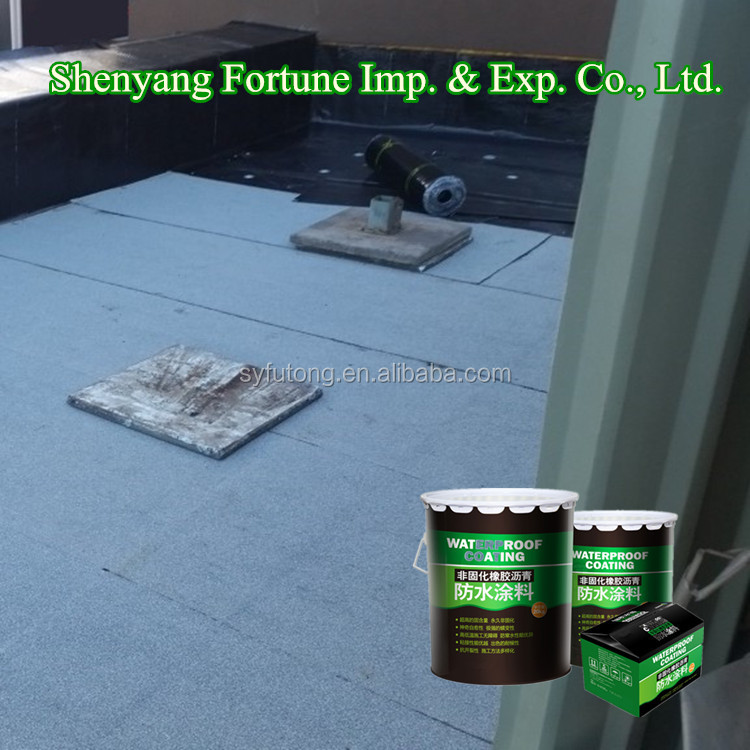 Non-Curing Seamless Liquid Rubber Asphalt Waterproof Shingle Roof Coating ( FT-AR0 )