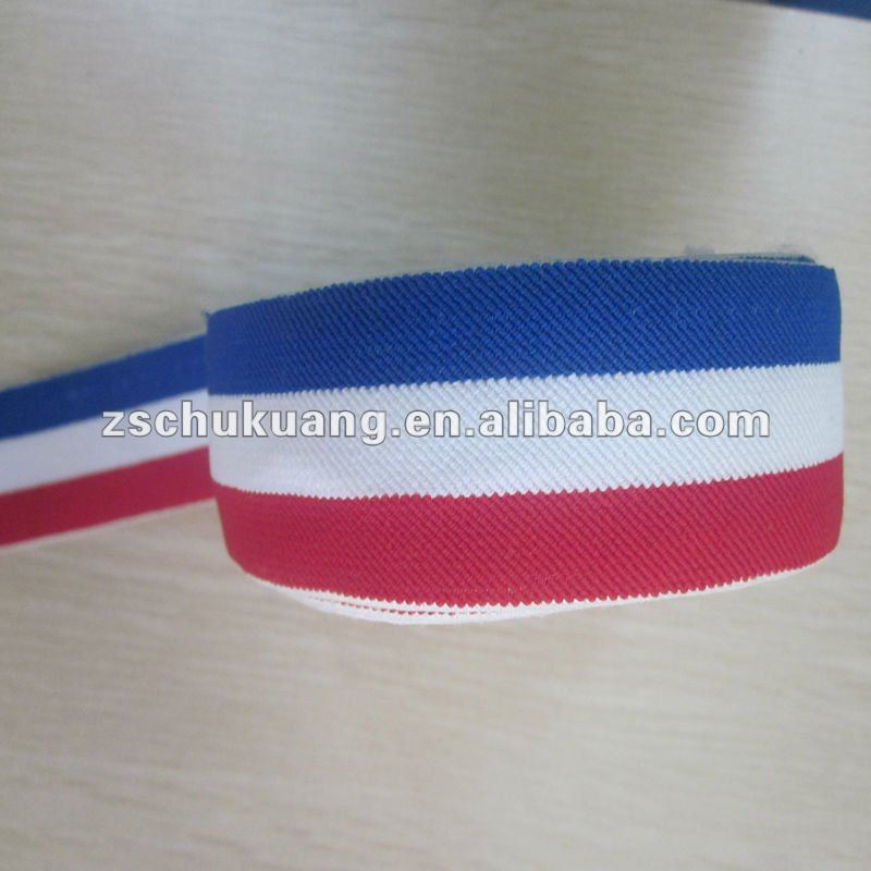 Multicolor and High elasticity crochet twill elastic band for belt and textile
