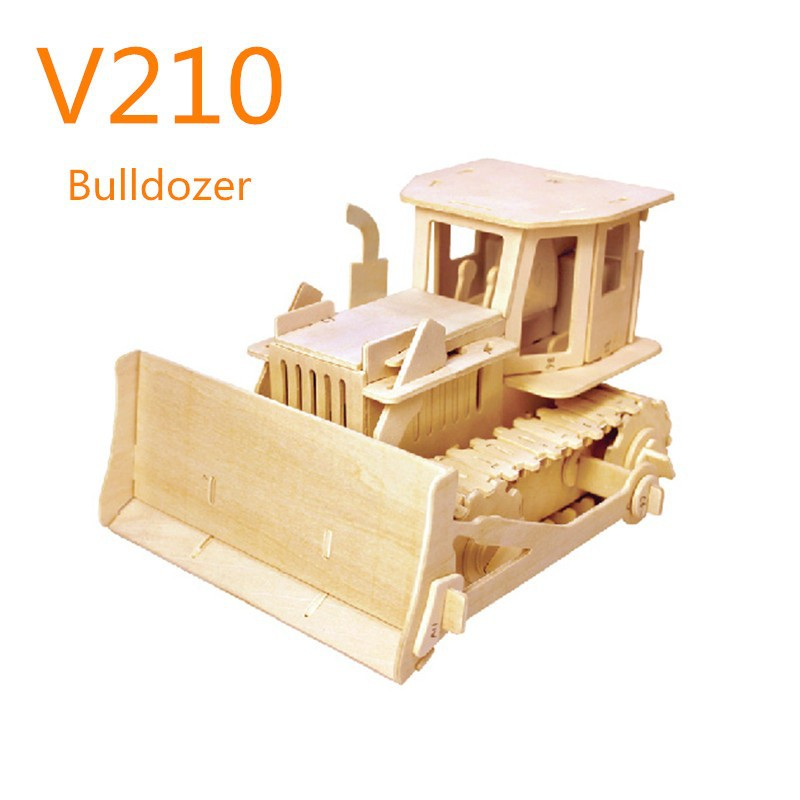 Robotime wooden toy cars RC Bulldozer vehicles Games