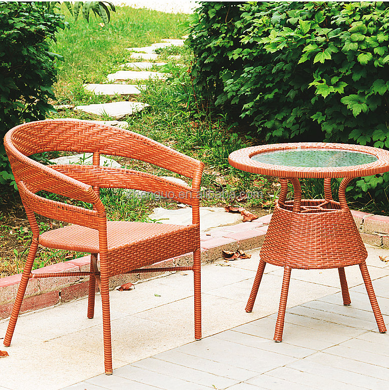 Small coffee furniture garden outdoor furniture ratan dining chair
