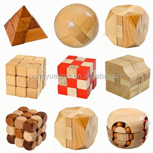 Intelligence 2 colors 3D brain teaser wooden puzzle funny cube iq game iq toy wooden shengshou cube 5cm for adult