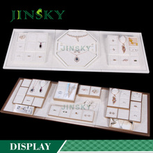 custom jewelry display set jewellery counter display for earring ring necklace display