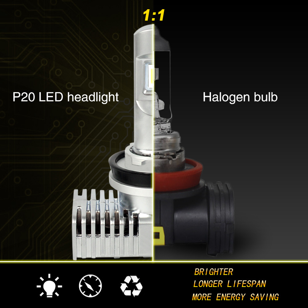 Zhengyuan LED H4 H7 9003 auto motive grade  LED Car Hi/lo Beam 6000K Bright White Light Auto Headlight ThermalCool Heat, Pair