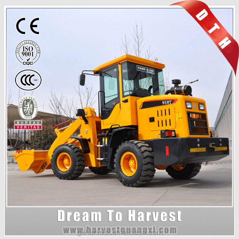 Chinese Manufacturer Compact Loader 1 Ton rated load DTH918