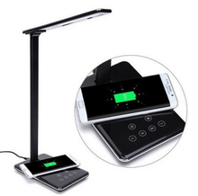 European design dimmable CCT and Briteness adjustable wireless charging led desk lamp