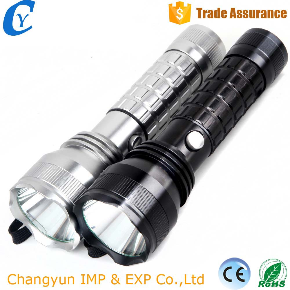 Hot Sale Rechargeable AAA/18650/26650 Li-battery Outdoor Deep Light Cup Super Light LED Flashlight Torch
