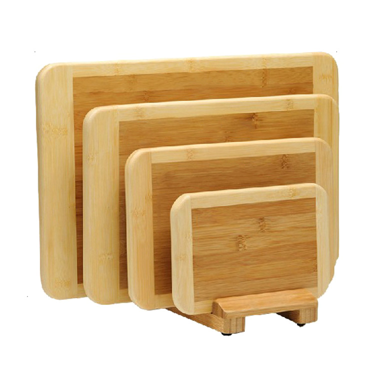 whosale hight quality 4 pieces cutting board set with very nice packaging