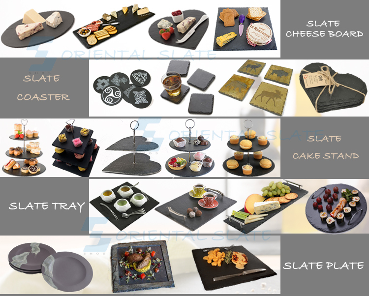 Wholesale Black Slate Dinner Plates,Cheap Slate Plates