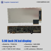 IPS 6.0 inch panel display lcd display with touch screen plug-in type for head mounted device vr