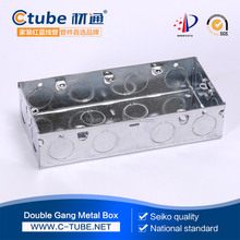 2 Gang switch box Knockout Galvanized Steel junction box
