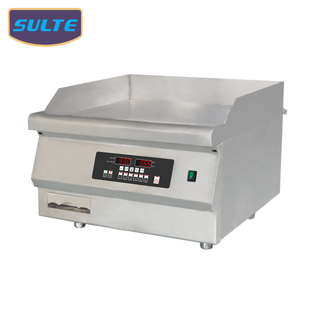 24 inch Stainless Steel 5KW Commercial Induction Griddle