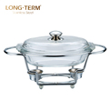 L4021 Wholesale Hot Sale Glass Food Warmer Buffet Warmer