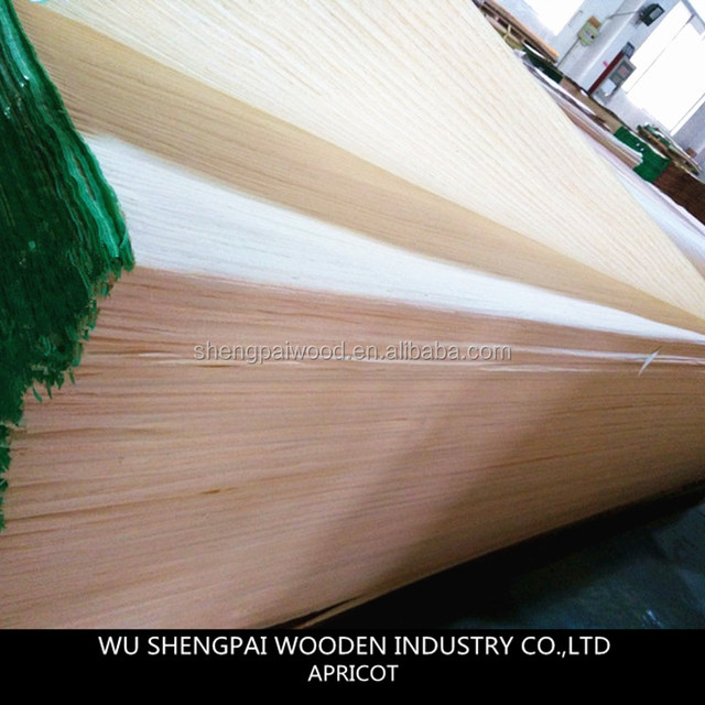 sliced cut keruing white apricot face veneer sheets for decoration