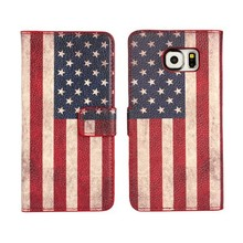 For Samsung Galaxy S6 National Flag Print PU Leather Wallet Flip Case