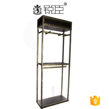 Clothing display shelf for retail store goods display