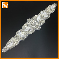 New fashionable crystal dress trimmings beaded sashes for evening dresses or bridal dress belt