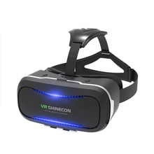Shinecon 2.0 RoHS material comfortable mask vr headset for kids to watch 3d movies at home