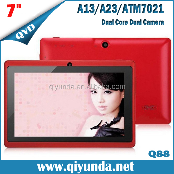 2014 Q88 Dual Core - Wifi Camera 7inch ATM 7021 two Camera Android 4.2 Tablet PC