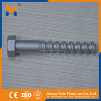 Square head/Hex head screw spikes for railroad fastening