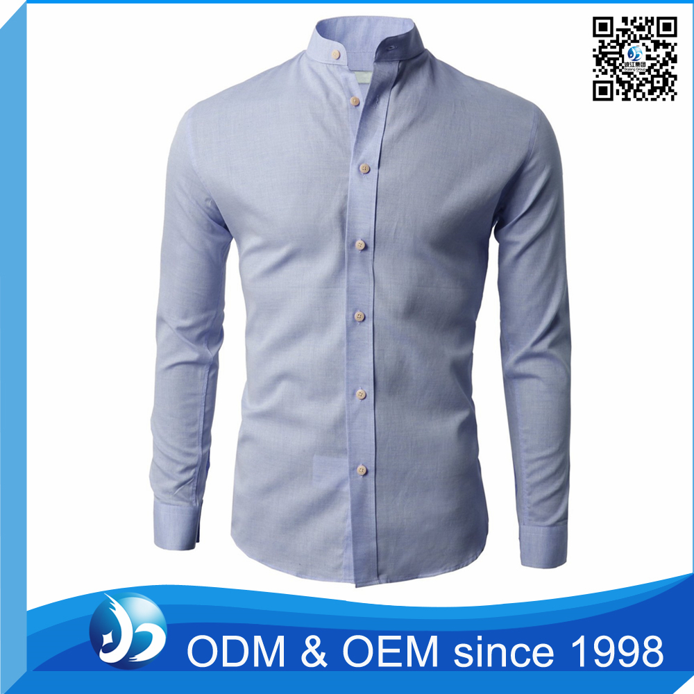 Slim Fit Cotton Oxford Dress Man Shirt Manufacturers