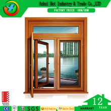 Elegant Grill Design Windows Double Leaf Casement Window Side Hinged Wooden Window