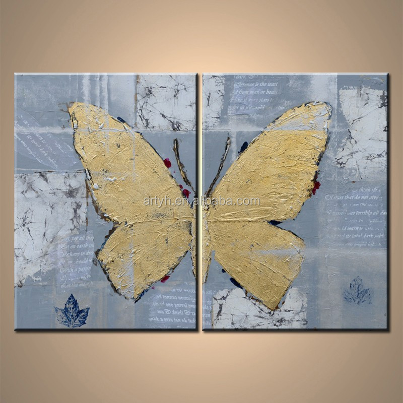 Wholesale handmade abstract butterfly paintings