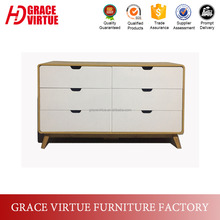 Factory Wholesale Scandinavian Chest of Drawers Bedroom Furniture
