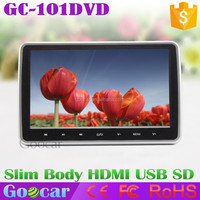 Goocar101DVD 10 inch TFT LCD Touch Buttons Headrest DVD With HDMI IR FM transmitter