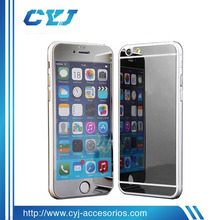 2015 fashion tempered glass mobile phone guard mirror screen protector