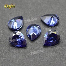 2015 New Pear Shape Synthetic Tanzanite Stone