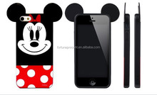 2016 Cute Cartoon Character Mickey Mouse Skin Silicon Phone Case For Iphone 5 6 6plus