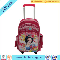 fairy tale rolling school backpack for primary school chiildren