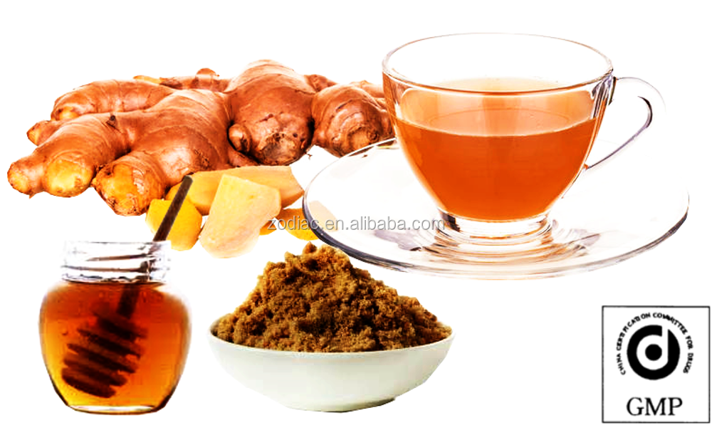 Instant Ginger Tea with Honey and Brown Sugar