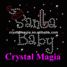 santa baby christmas design heat transfer for t-shirt