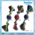 Wholesale Colorful Cotton Rope Dog Chewing Rope With Tennis Ball
