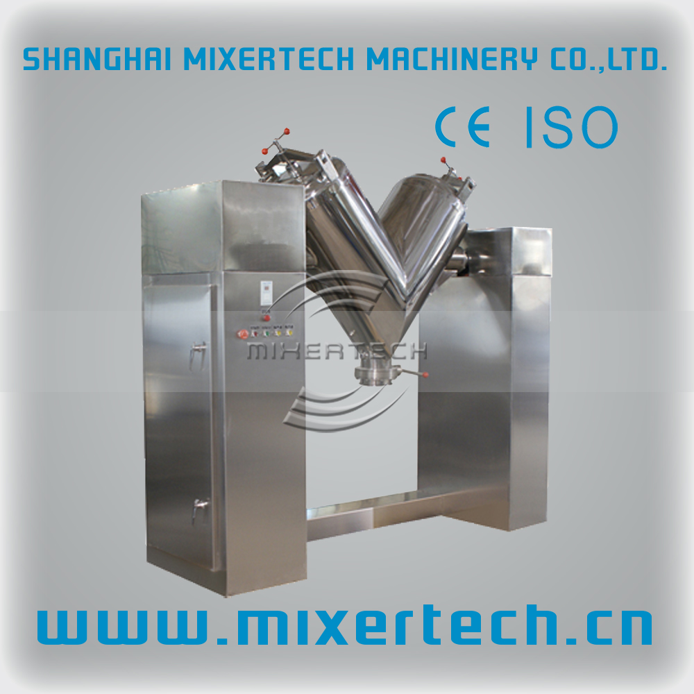 Chemical Powder V Shape Powder Mixer & Blender / Medicine Powder Mixing Machine / Vitamin