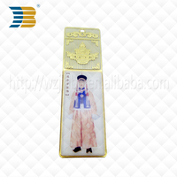 high quality new custom folk art plastic epoxy bookmark