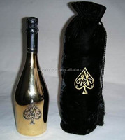 Black velvet wine bottle bags/beverage packaging Bag/ Bottle Bag