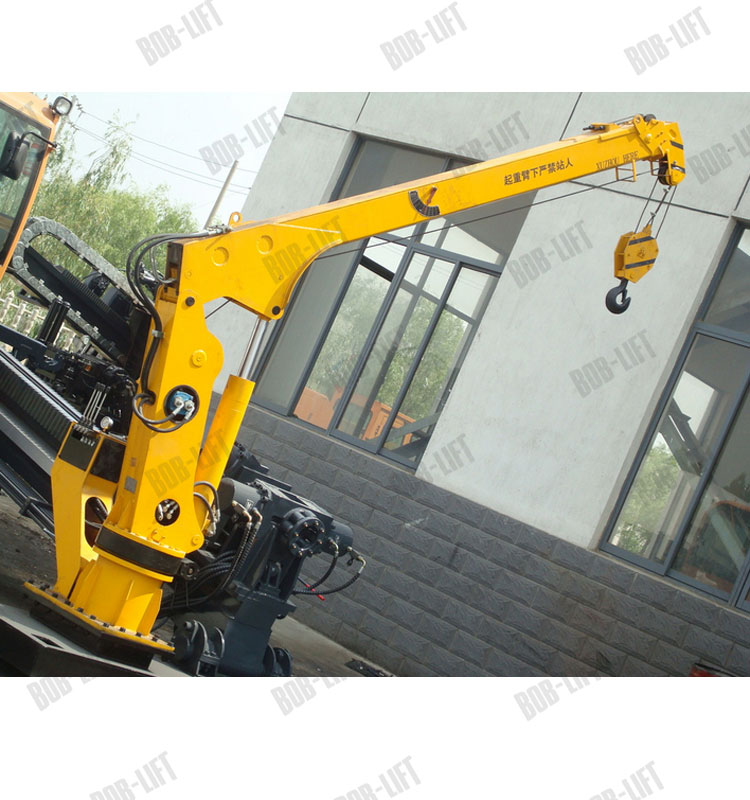 2 Ton telescopic boom marine crane for sale