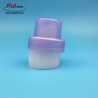 White and purple laundry detergent bottle PP screw top cap