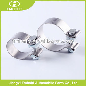 polishing and cleaning high strength muffler rope automotive clamps for exhaust pipe