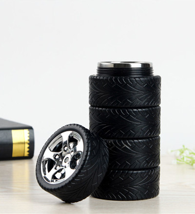 SGS Approved Patented Logo Customized Souvenir Gift Mug Tire Cup