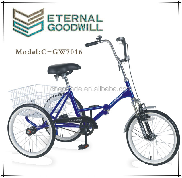"Hot sale adult tricycle NY-GW7016X20"" three wheel tricycle/three wheel bicycle /beautiful folding tricycle with high quality"