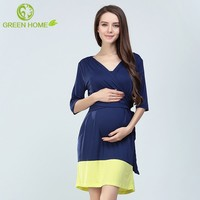 autumn comfortable breathable korean style maternity dress