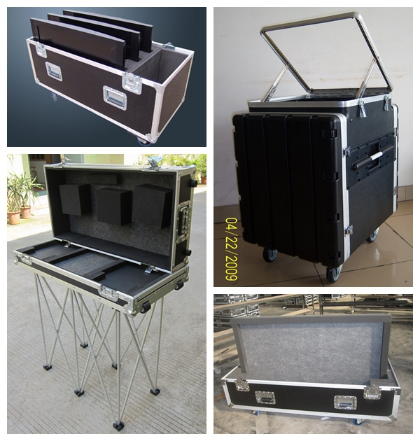 16 u aluminum tool boxes 3 doors flight case