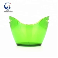 2018 Factory PS Plastic Champagne Ice Bucket Acrylic 8L