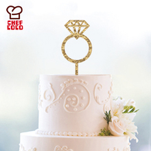 8pcs acrylic cake topper with finger ring for wedding