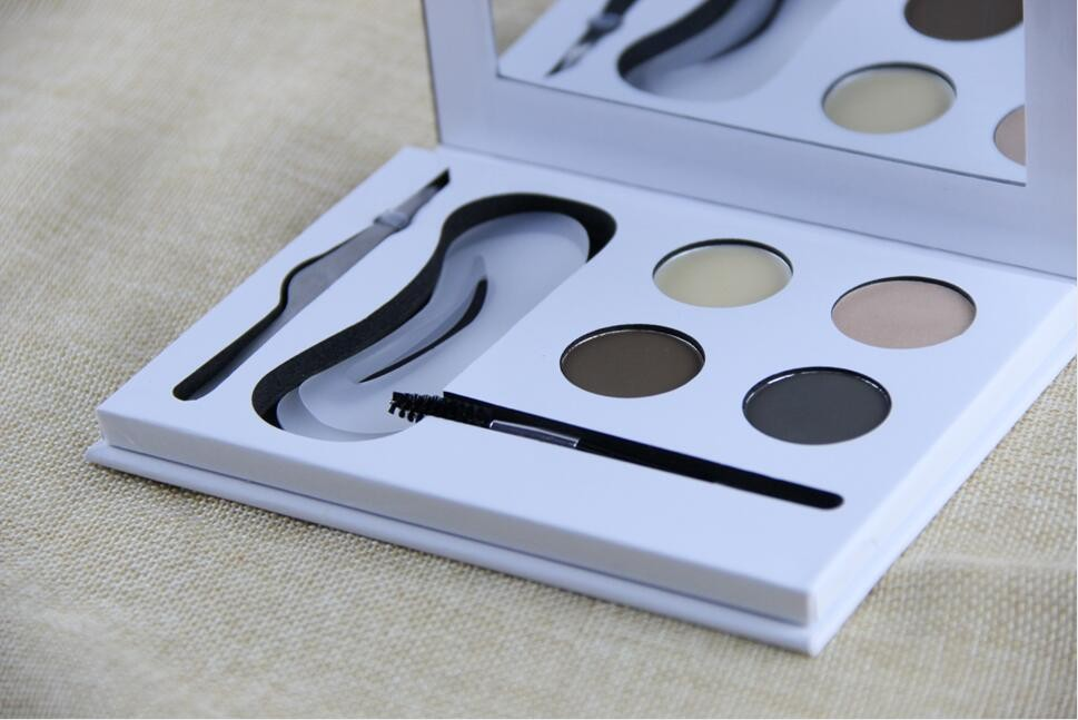 Stock free sample 4 colors eyebrow powder kit
